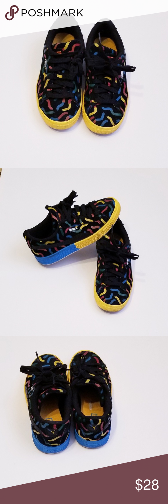 PUMA LIMITED EDITION GUMMY WORM KIDS PUMA SUEDE SNEAKERS