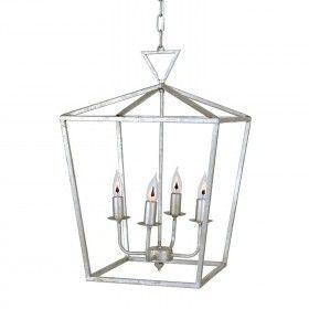 Candelabra Home Palmer Lantern - Silver