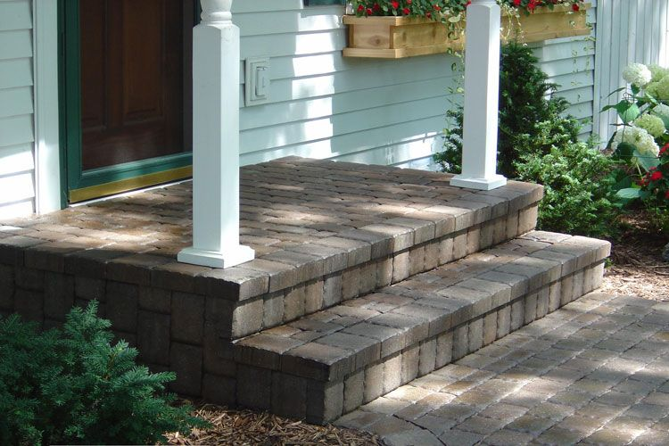 stone front steps design ideas stone step landscaping - Front Steps Design Ideas