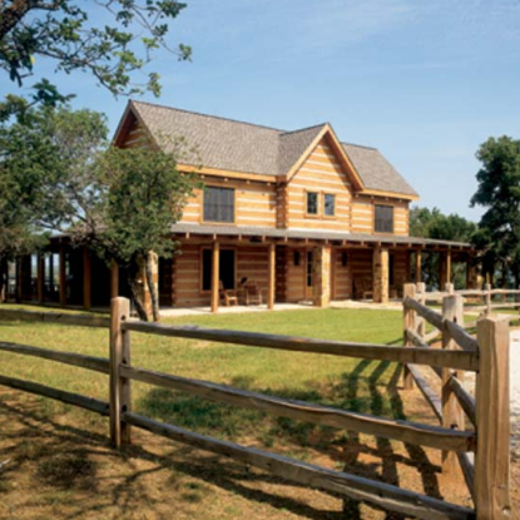 Great-looking cabins on this site. I love the split rail fence!