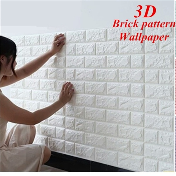 1pc 3d Brick Pattern Wallpaper Wall Background Bedroom Living Room