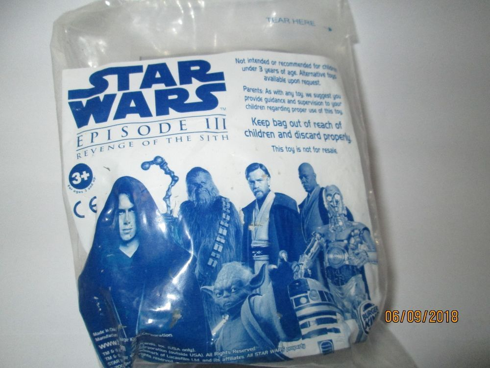 Burger King Kids Meal Toy Star Wars Episode Iii Revenge Of The Sith From 2005 Starwars Child Obesity Kids Meals Revenge