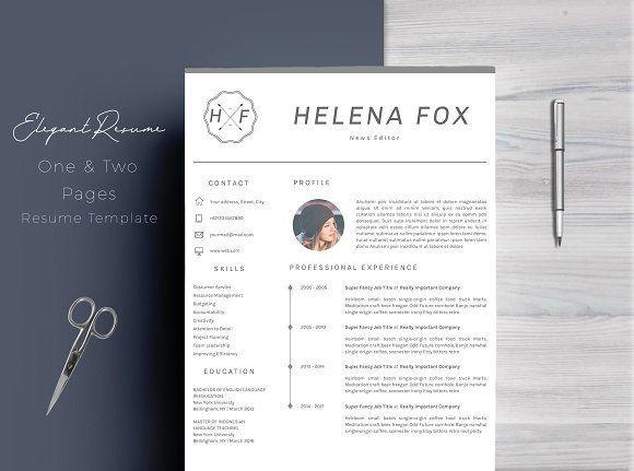 CV Resume Template @creativework247 Resume design Pinterest Cv