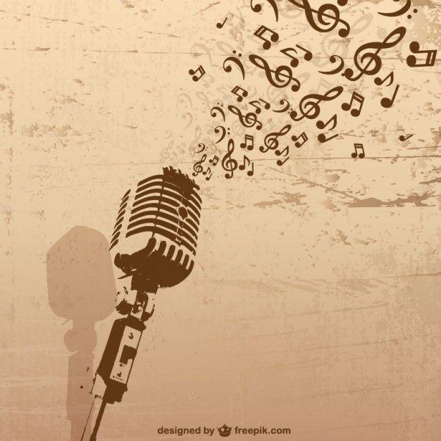Ilustración de micrófono   Música   Pinterest   Tattoo, Tatting and ...