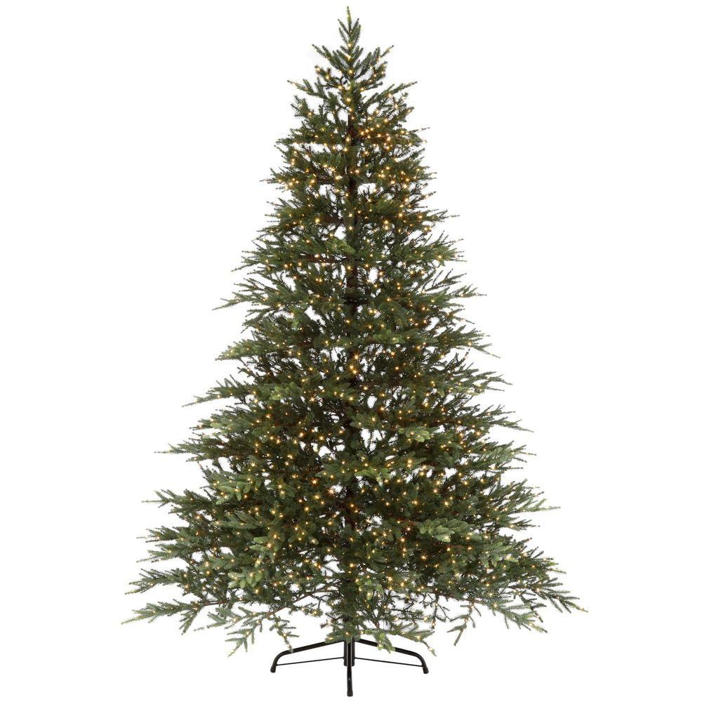 Home Accents Holiday 7.5 ft. PreLit LED Elegant Natural