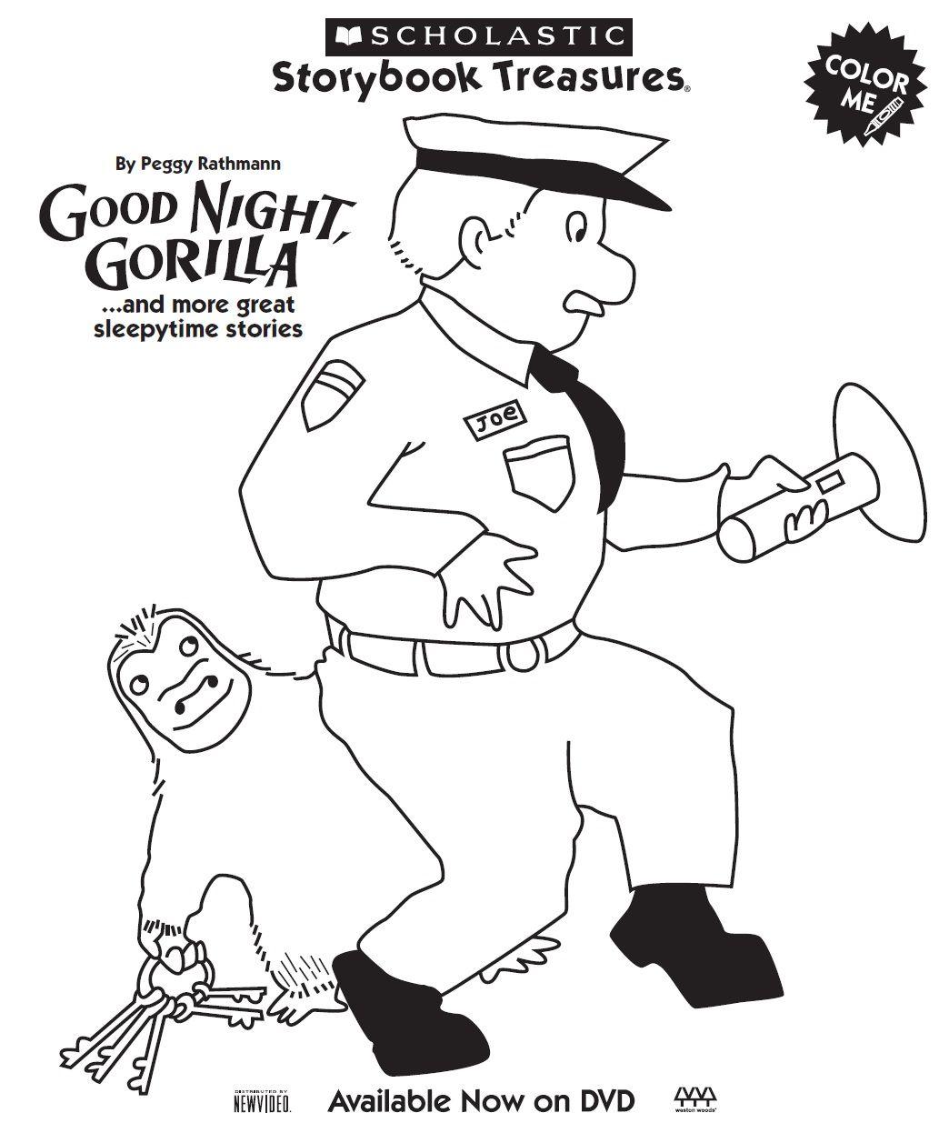 Goodnight Gorilla Coloring Page Goodnight Gorilla Goodnight