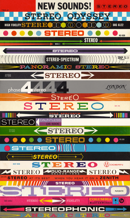 Vintage Lp Stereo Banners Stacked By Jive Time Records And