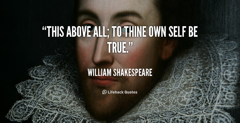 to thine own self be true william shakespeare