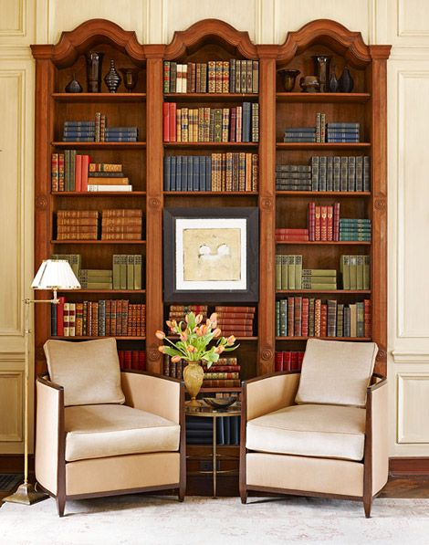 Stack Books Horizontally And Vertically For An Appealing Visual Effect    Traditional Home® / Design: Frank Ponterio