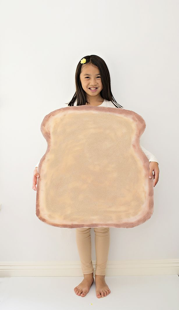Easy Toast Bread Costume for Kids Cute and simple last minute - last minute halloween costume ideas for women