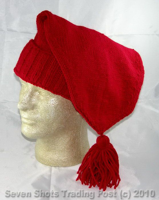1e1642925ae20 Hand Made Knitted Voyager Hat - Red - (French Mountain Man) - Reenactor    NEW