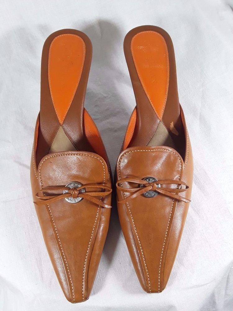 Cole Haan Kitten Heel Brook Mule - Congiac Leather Size 8B #ColeHaan #Mules  #