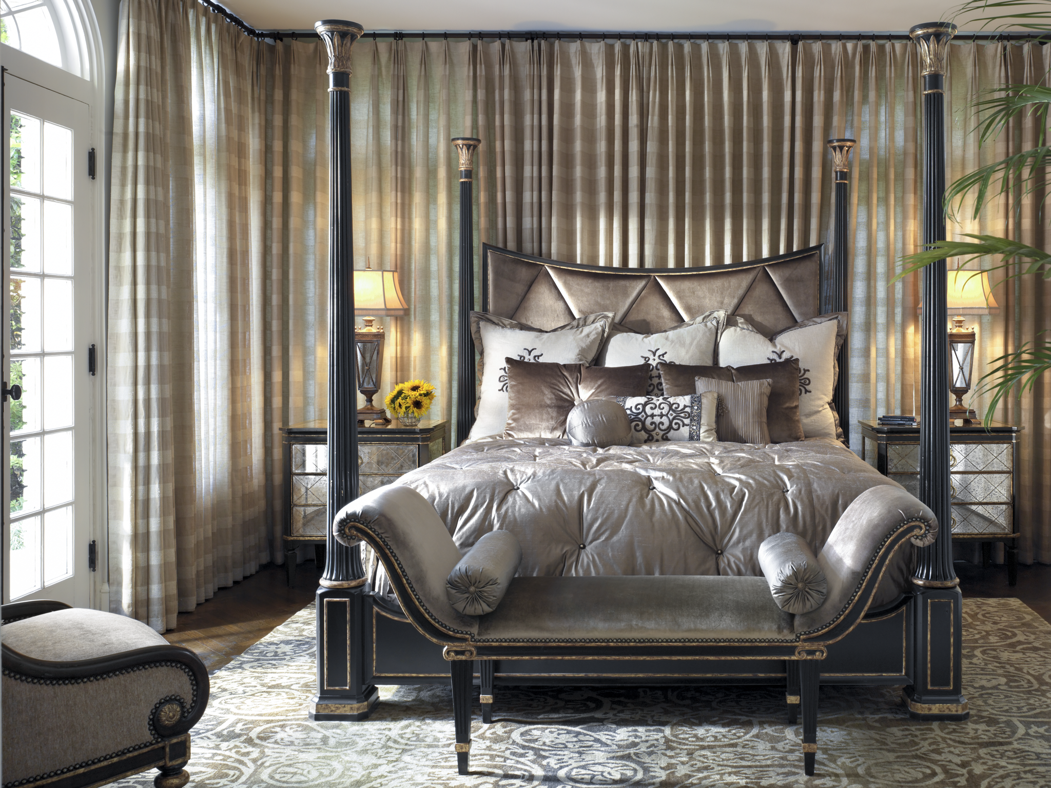 Ionia Poster Bed Pure Glam Marge Carson Bed Custom