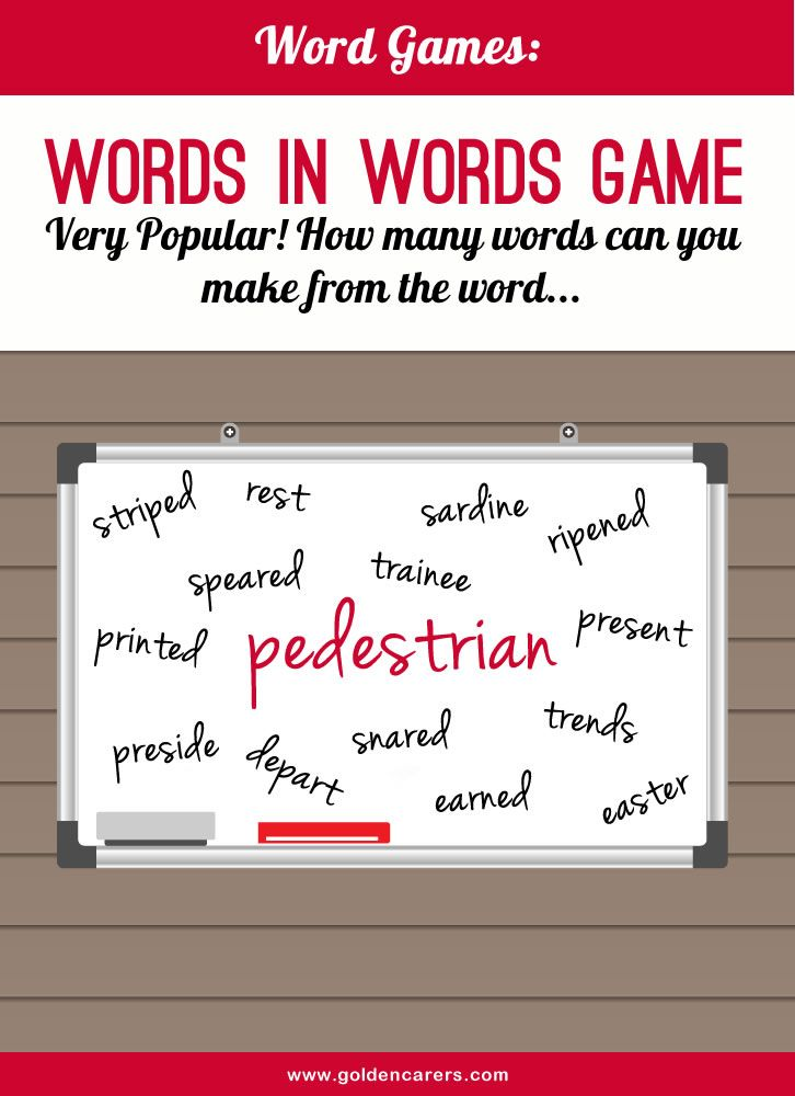 Word Game Promotion, Activities and Word games - make a survey in word