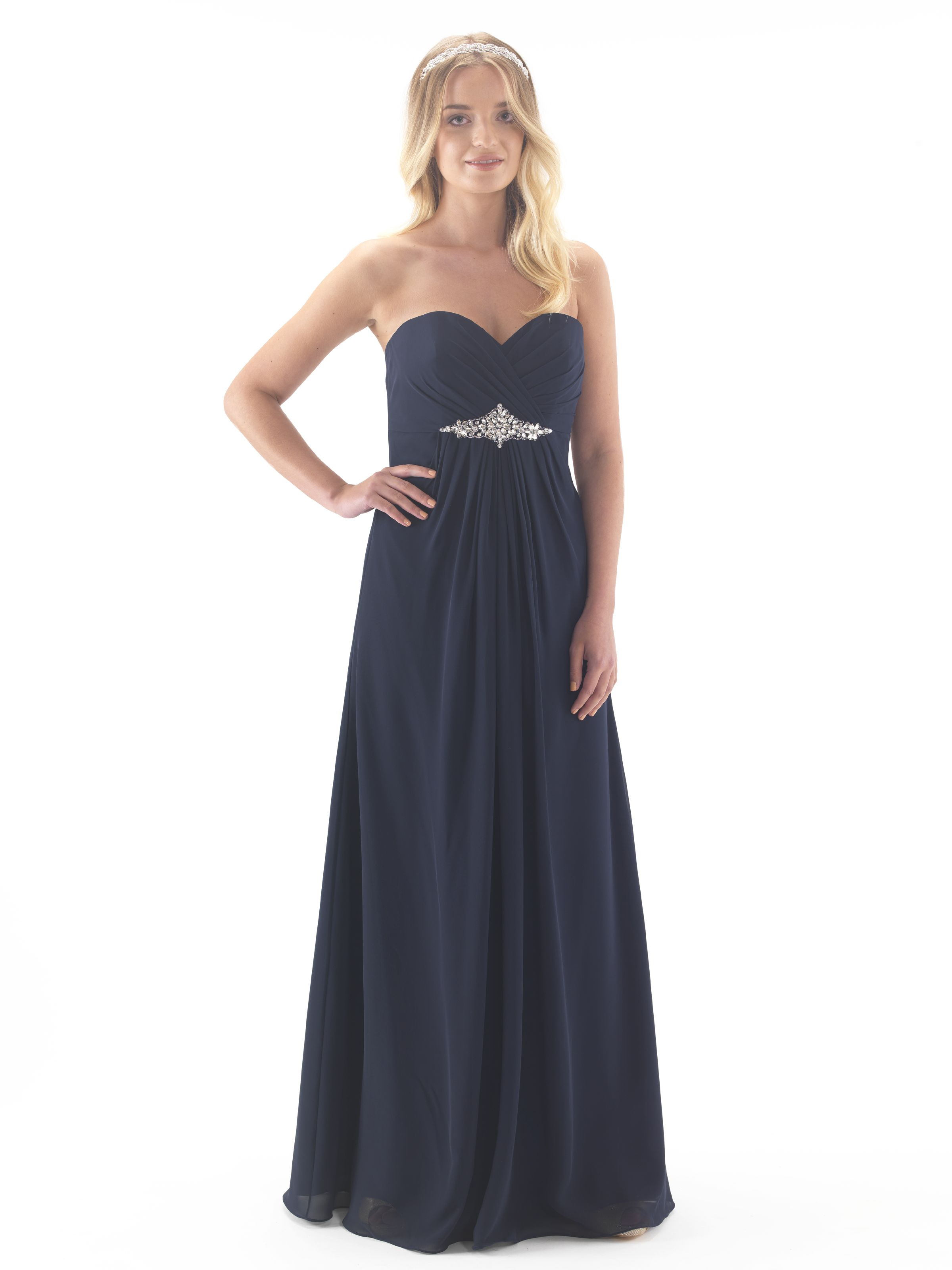 Linzi jay en388 chiffon full length bridesmaid dress sparkle linzi jay en388 chiffon full length bridesmaid dress midnight blueblack ombrellifo Choice Image