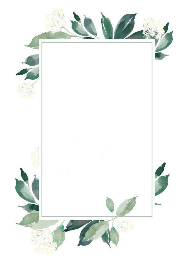 leaf wreath frame #designwallpaper