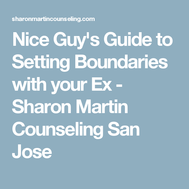 Setting boundaries with your ex