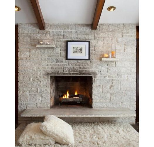 Mid Century Modern Fireplace: Exceptional Mid Century Modern Fireplace. Exceptional