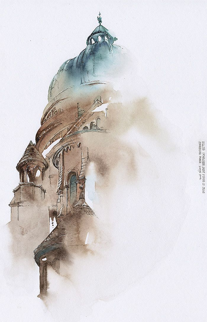 Photo of Korean Artist Watercolors Cities She Visits