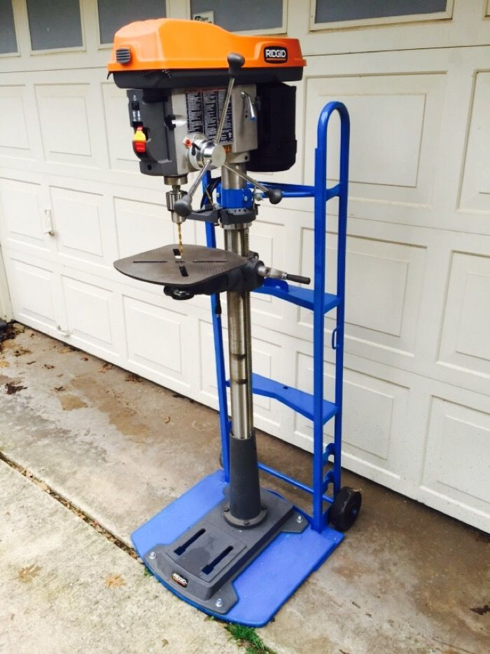 Portable Floor Mounted Drill Press - The Garage Journal ...