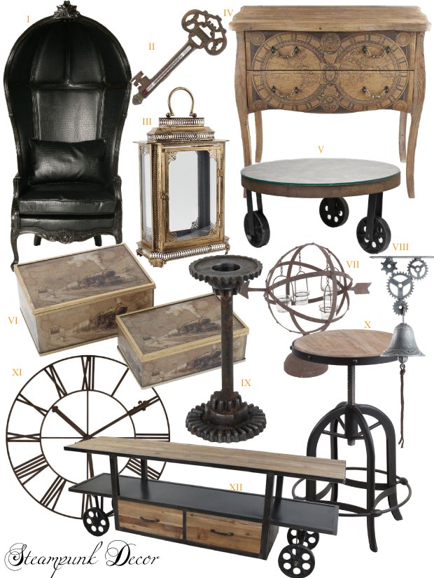 Adopt the unconventional steampunk decor in your home do for Steam punk chair