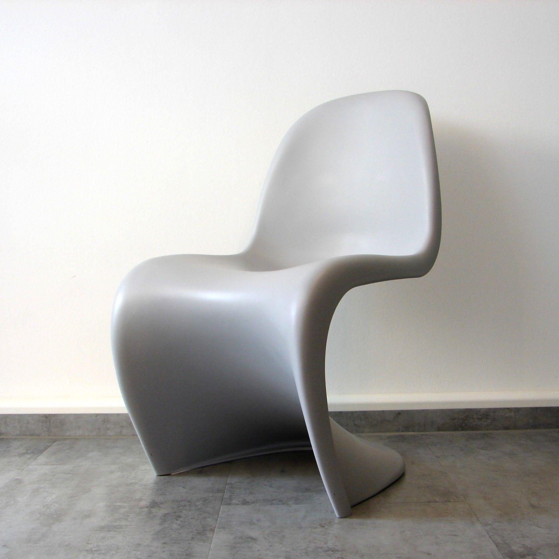 panton chair kinderstuhl panton chair verner panton vitra 03 2004 hellgrau sehr guter. Black Bedroom Furniture Sets. Home Design Ideas