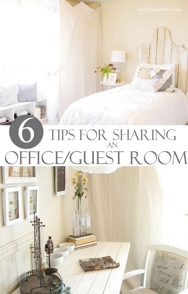 6 Tips For Sharing An Office And Guest Room Small Guest Bedroom