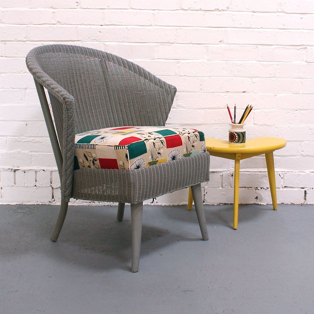 vintage lloyd loom chair with seat in tom mellor 39 flower. Black Bedroom Furniture Sets. Home Design Ideas