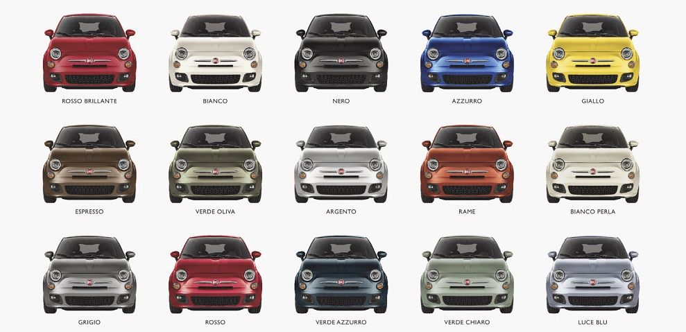 Fiat 500 colors