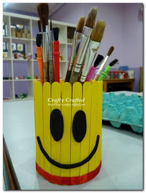 Another Fathers Day gift idea. He can't help but smile when he grabs for a pen or pencil out of this cutie!