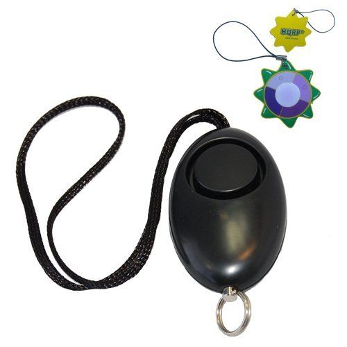 HQRP 140db Personal Defense Security Alarm with Pull Pin / Portable Panic Kids Student Jogger Rape Violence Protection + HQRP UV Tester by HQRP. $6.95. This safety alarm will help you and your loved ones to always be safe. It's perfect for women, teenagers and the handicapped, nighttime college student walking through nearly deserted buildings and semi-dark parking lots, or for cycling, workouts, walking a dog at night. Place it in a purse, gym bag, backpack or glove...