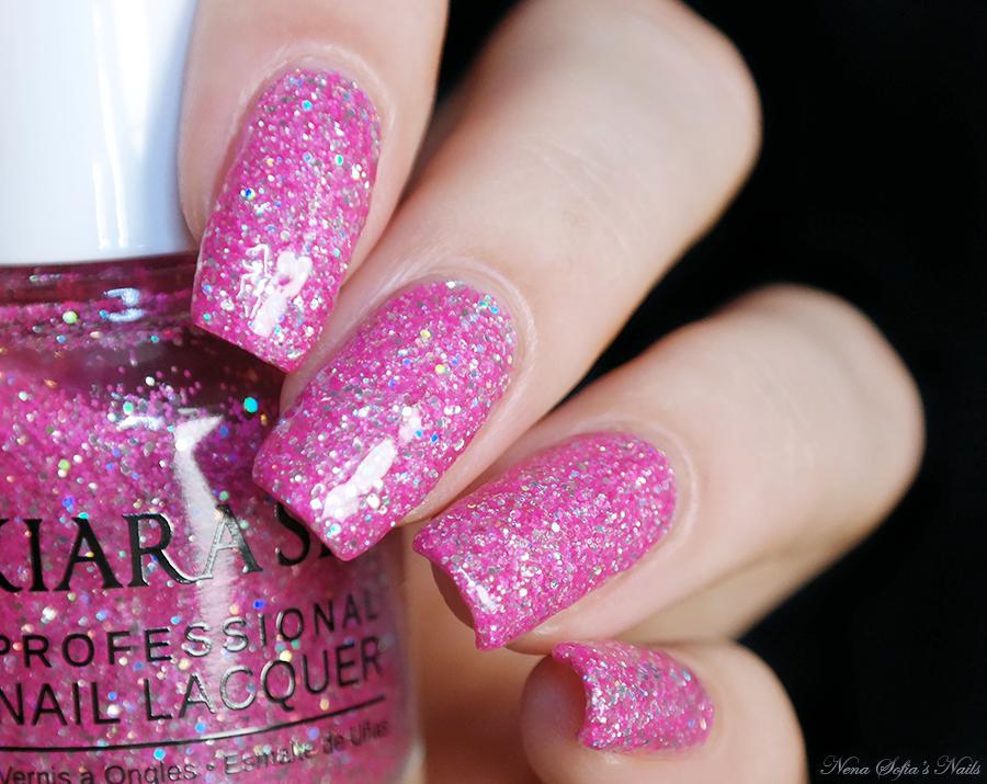 Pink holo glitter nails || Kiara Sky \