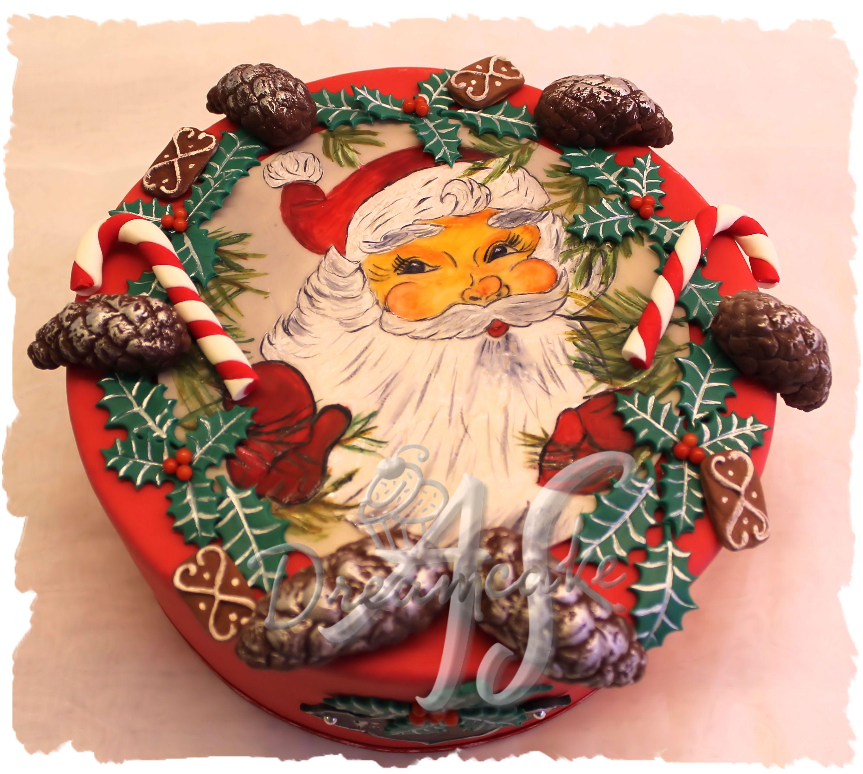 Weihnachtstorte Tortenmalerei