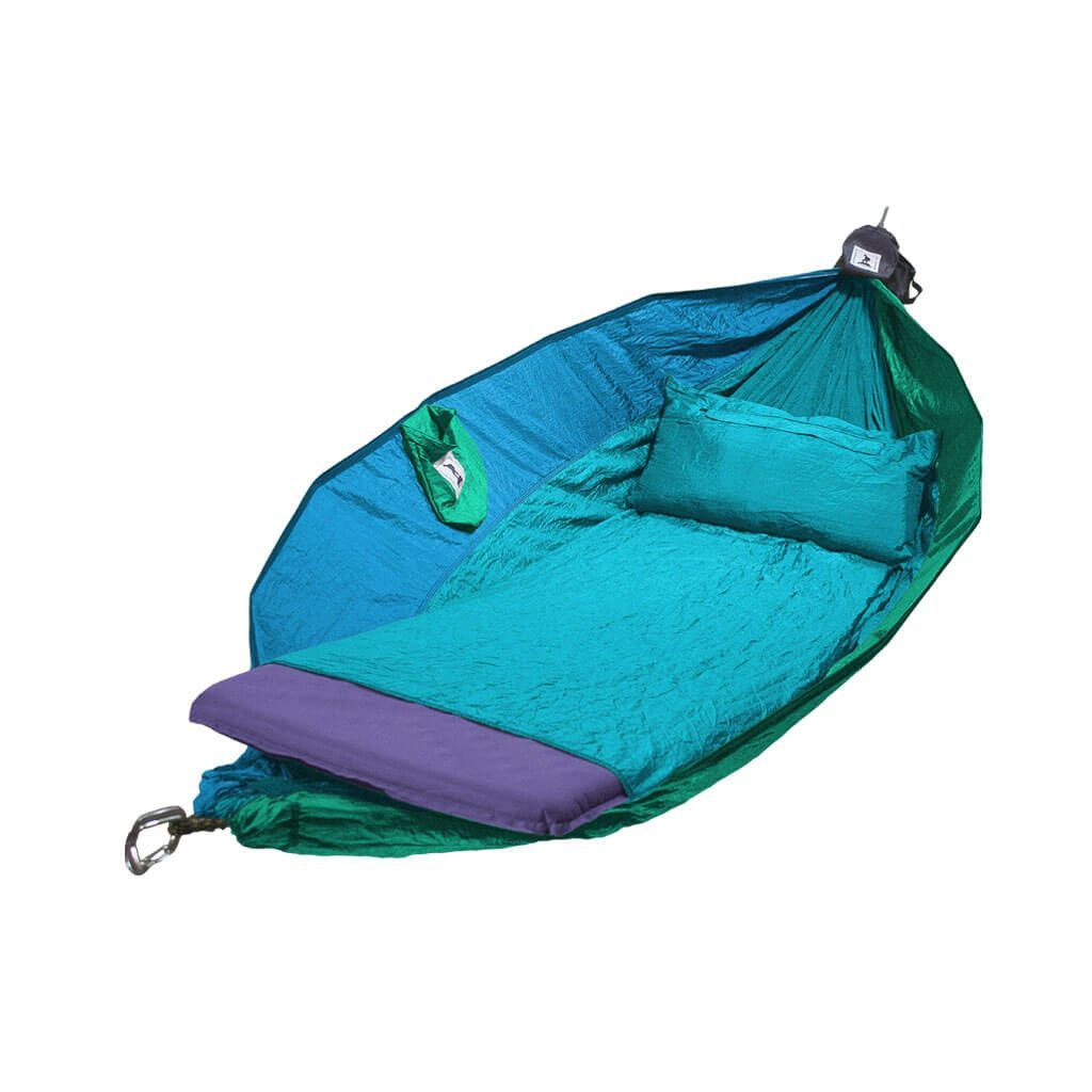 the deluxe adventurers hammock  coastal blend bakpocket deluxe adventurers hammock double   hammocks for travel      rh   pinterest