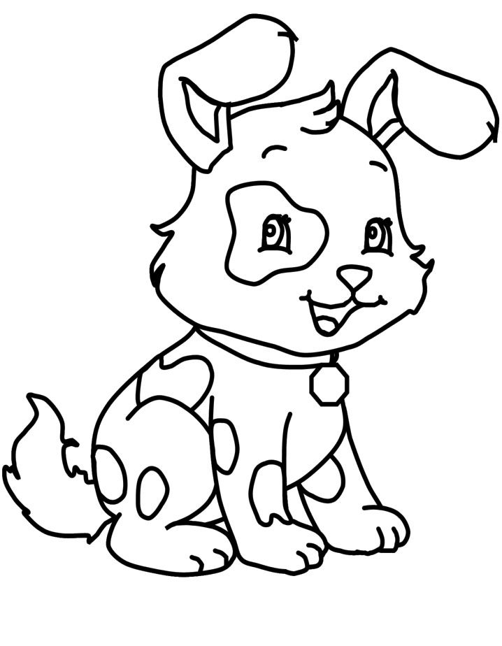 Funny Little Dog Coloring Pages For Kids