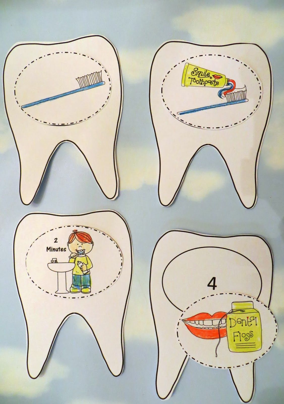Dental Health Craft A 3d Tooth Brushing Craftivity By