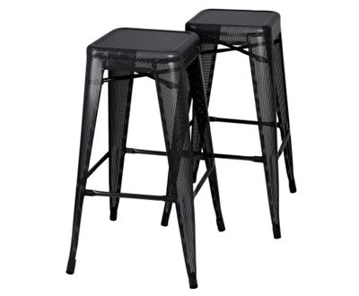set of 2 tolix replica bar stools in black on sale now at