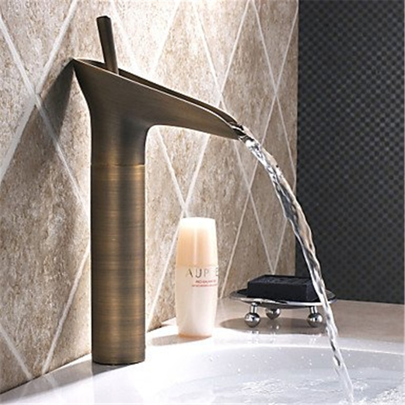 67.99$  Buy now - http://ali94k.worldwells.pw/go.php?t=32777501452 - Moden Style Antique Brass Faucet Bath Basin Mixer Tap Bathroom tap bath Faucets Tap Toilet Basin Faucets Free Shipping