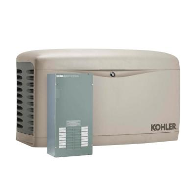 Kohler 14 000 Watt Air Cooled Standby Generator With Automatic Transfer Switch 14resal 100lc16 The Home Depot Standby Generators Transfer Switch Propane Generator