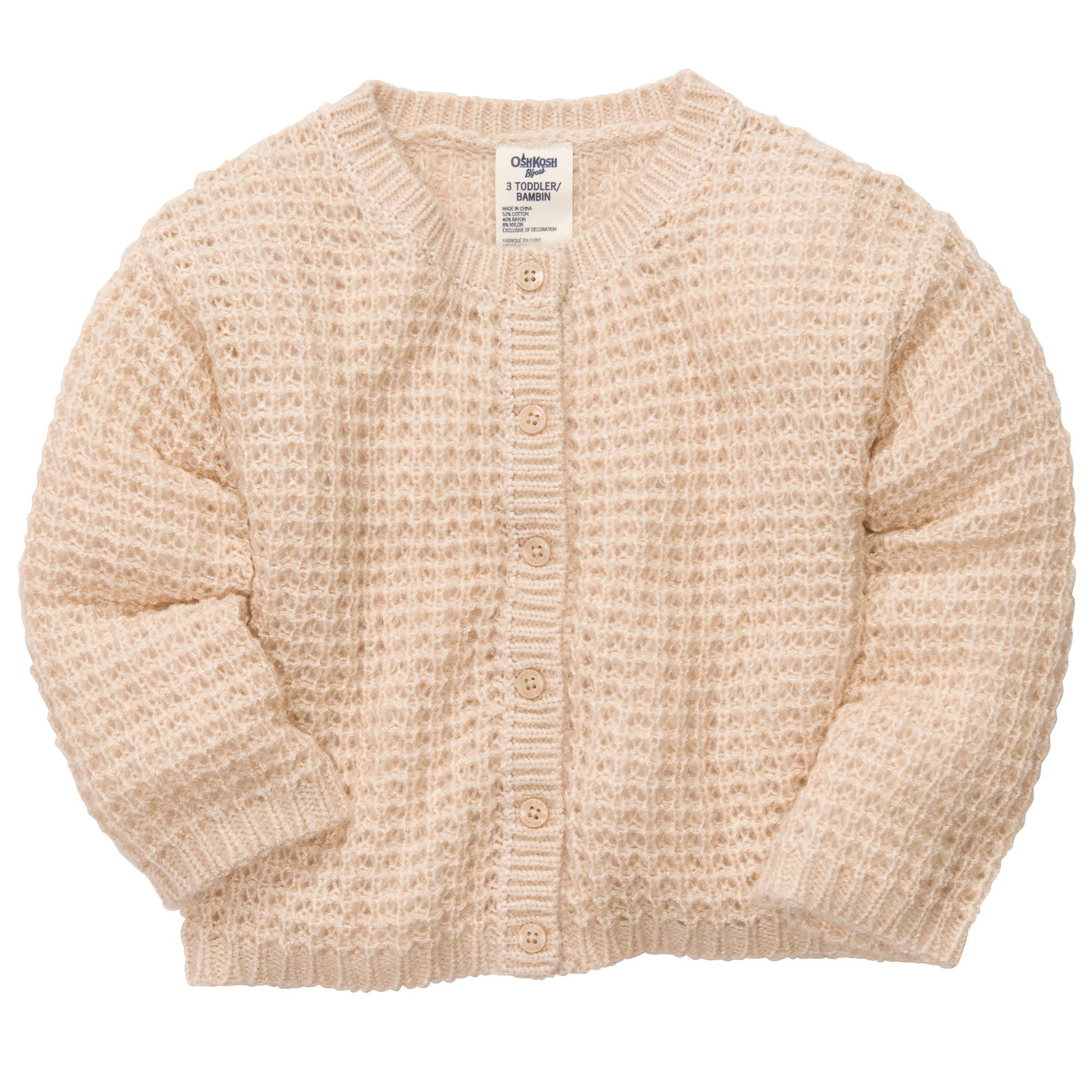 White OshKosh BGosh/© Toddler Girl Knit Cardigan Sweater