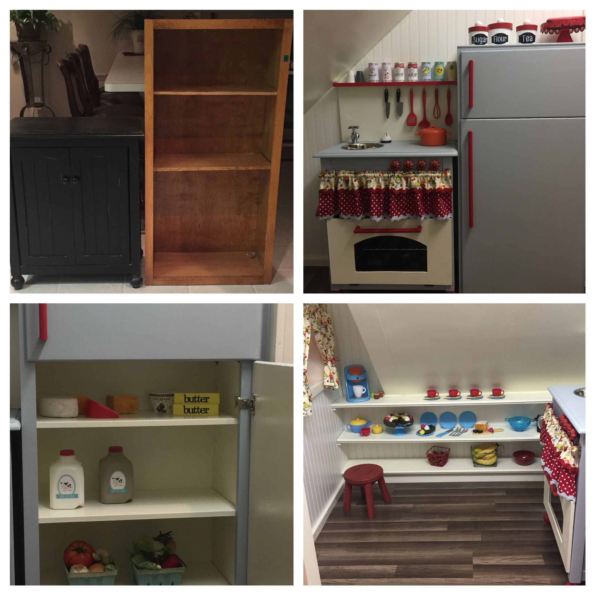 Diy Play Kitchen Before And After Play Houses Indoor Playhouse