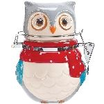 Snowy Owls Hinged Ceramic Jar