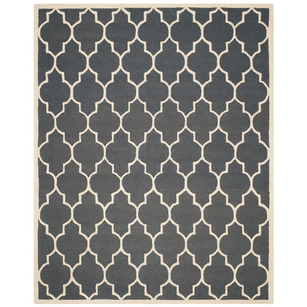 Safavieh Cambridge Dark Gray Ivory 9 Ft X 12 Ft Area Rug Rug