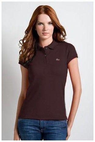 901d121f85d magasin ralph lauren pas cher! Boutiques de Polo Lacoste Femmes revers  court T Shirt Brown pas cher paris