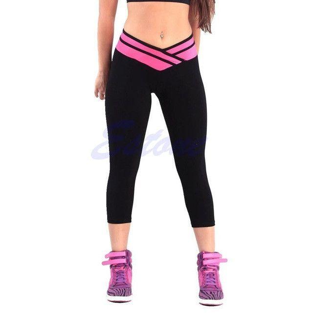 480820474 Hot Leggings - High Waist Sexy Sportswear - Stretch Fitness