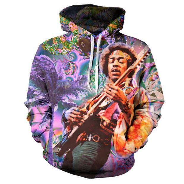 3d Hoodies Print Jimi Hendrix Mens Women  Sweater Sweatshirt Jacket Pullover Top