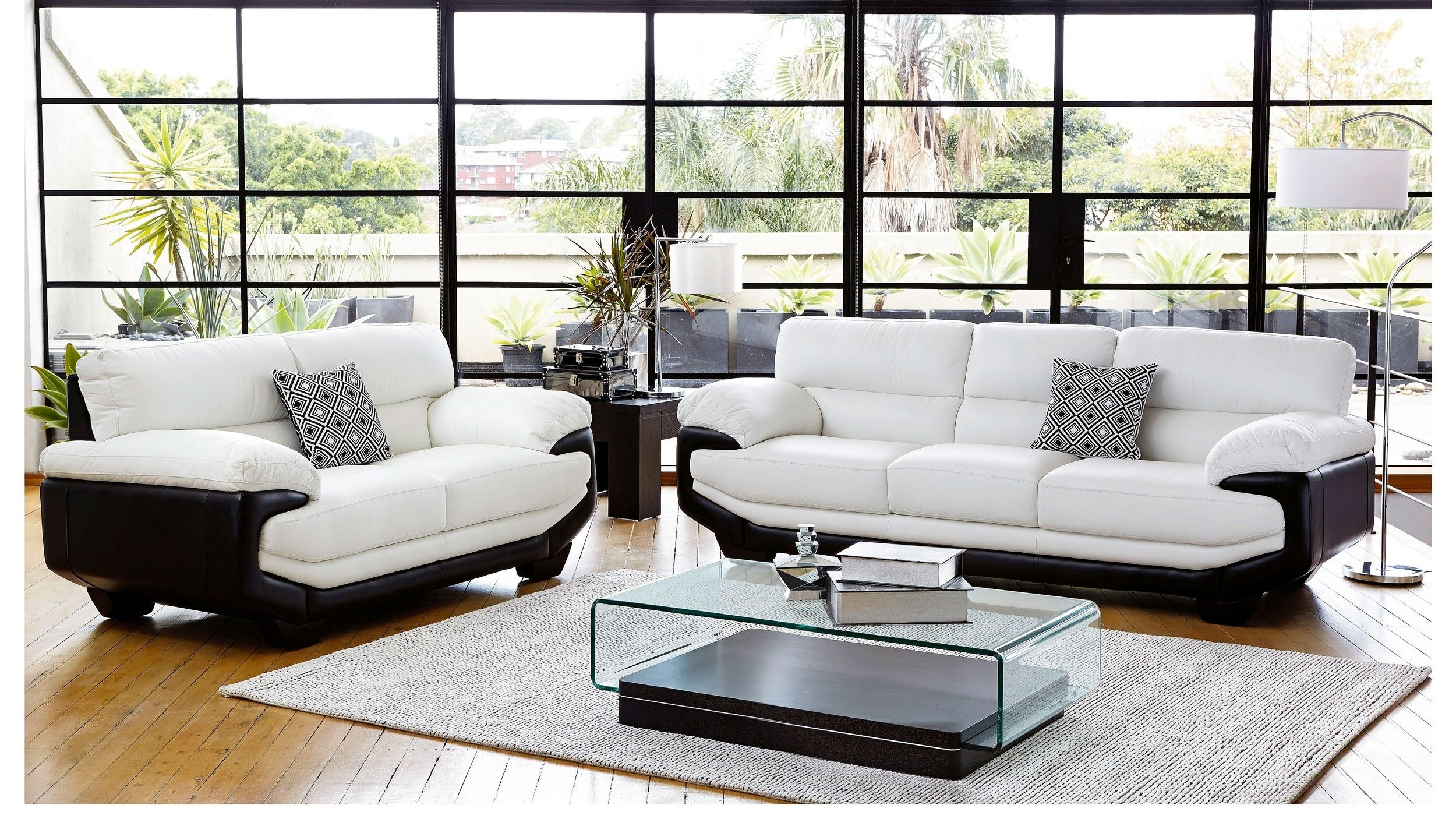 Centro MK2 2 Piece Leather Lounge Suite   Lounge Suit Ideas ...