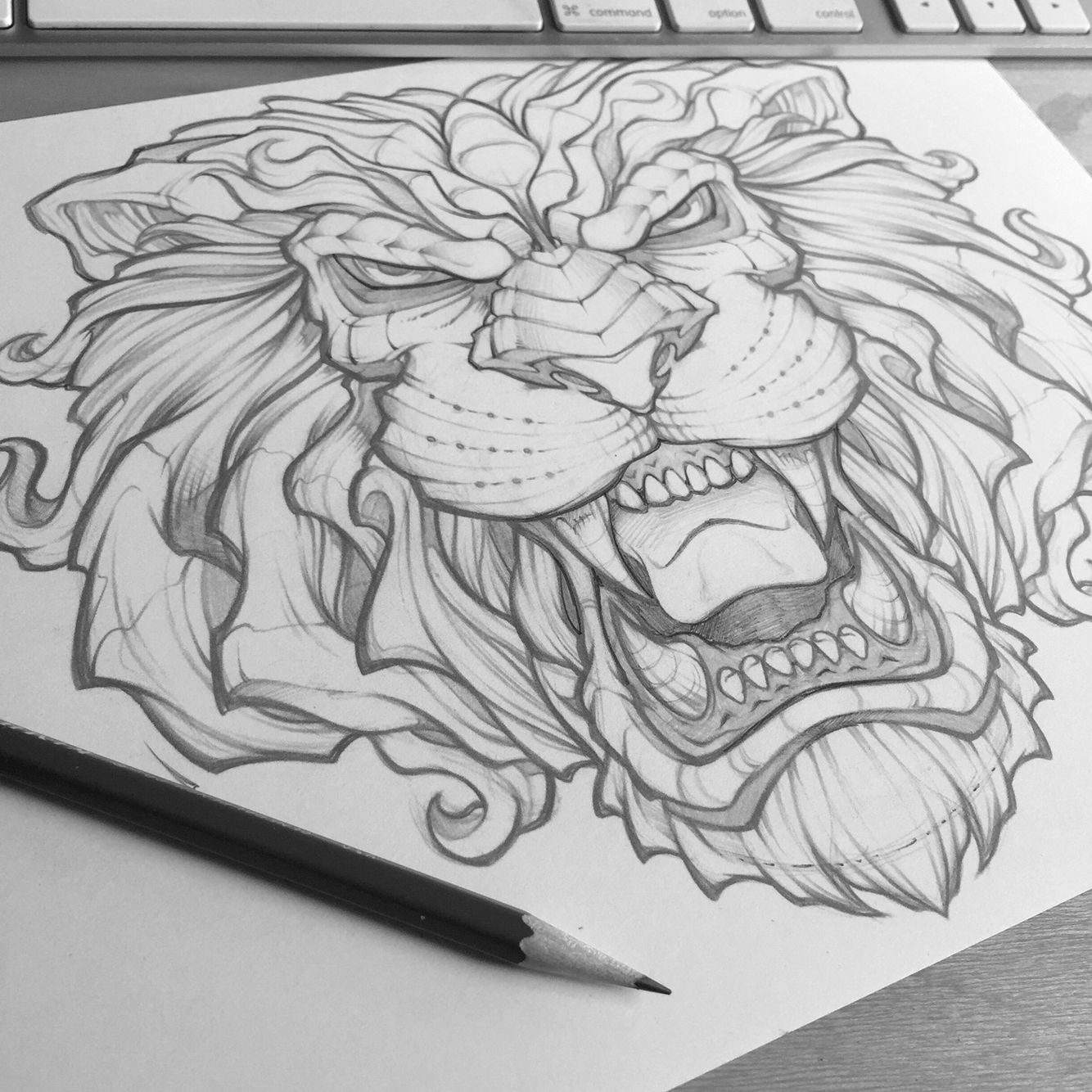Reworking a lion drawing from a couple years ago. #king #lion #absorb81 #art #sketch