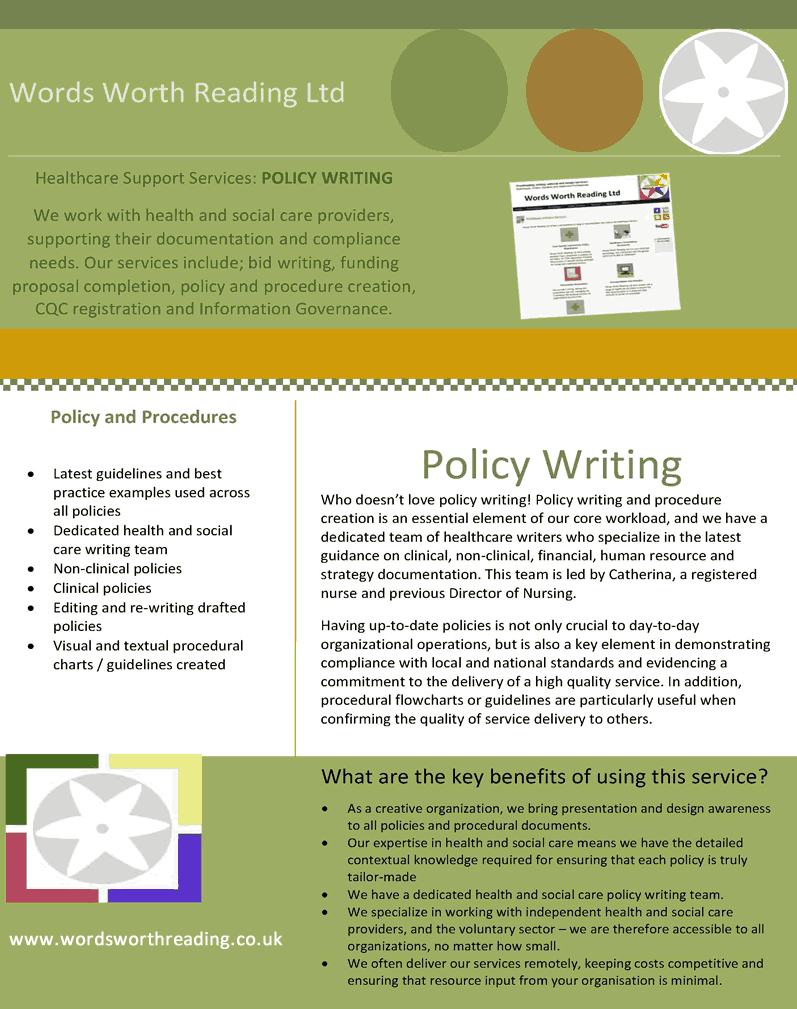 Support with policy writing (With images)   Healthcare ...