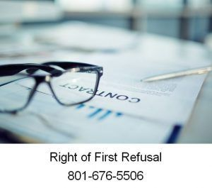 Right Of First Refusal  Amanda